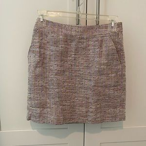 Jcrew tweed mini skirt